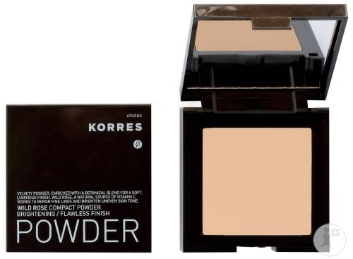 Korres Poudre Compacte WRP1 Lumineux Rendu Lisse Pur Rose Sauvage 10g