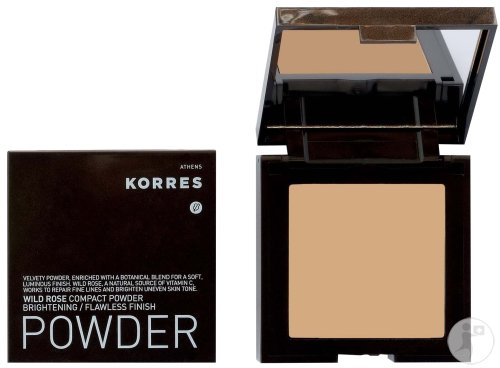 Korres Poudre Compacte WRP4 Lumineux Rendu Lisse Pur Rose Sauvage 10g