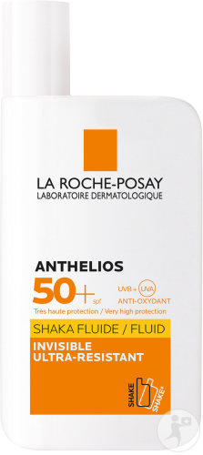 La Roche-Posay Anthelios Shaka Fluide IP50+ Invisible Ultra-Résistant Visage Peau Sensible 50ml