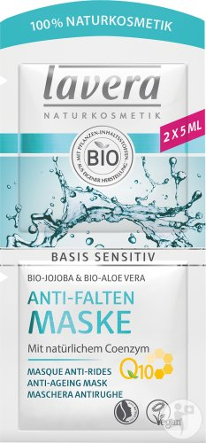 Lavera Basis Sensitiv Masque Anti-Rides Avec Q10 Bio 2x5ml