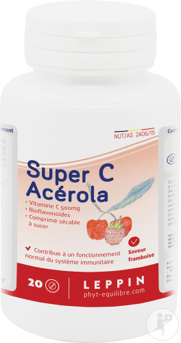 Leppin Acérola 500mg Tablettes 20
