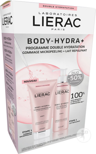 Lierac Coffret Body-Hydra+ Gommage Micropeeling 200ml + Lait Repulpant 200ml