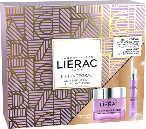 Lierac Coffret Lift Integral Anti-Âge Nutri Crème Riche 50ml + Sérum Regard 15ml