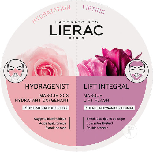 Lierac Masque Duo Hydragenist Et Lift Integral 2x6ml