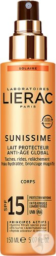 Lierac Sunissime Lait Protecteur Anti-Âge Global IP15 Corps Spray 150ml