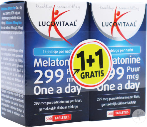 Lucovitaal Melatonine 0,299mg Comp 2x500 1+1grat.