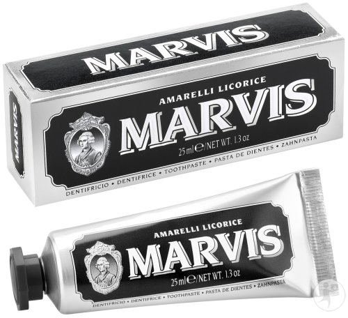 Marvis Amarelli Licorice Dentifrice Réglisse Tube 25ml
