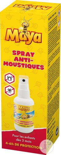 Maya Spray Anti-Moustiques 4-6 Heures De Protection Flacon 50ml
