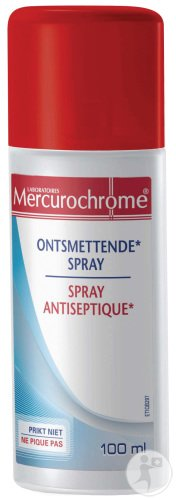 Mercurochrome Spray Antiseptique Incolore Flacon 100ml