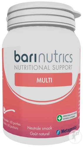 Metagenics BariNutrics Multi Poudre Goût Naturel 60 Portions