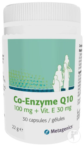 Metagenics Co-Enzyme Q10 100mg + Vitamine E 30mg Gélules 30
