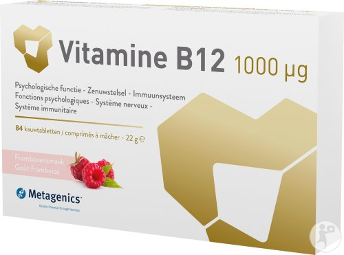Metagenics Vitamin B12 1000µg 84 Comprimés A Mâcher