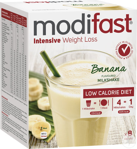 Modifast Intensive Weight Loss Milkshake Saveur Banane 8x55g