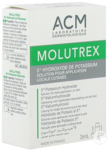 Molutrex 5% Hydroxide De Potassium Solution Cutanée Flacon Avec Applicateur 3ml
