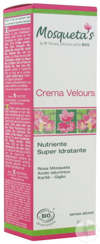 Mosqueta's Rose Crème Velours Super Hydratante Bio Flacon 50ml