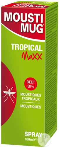 Moustimug Tropical Maxx DEET 50% Spray 100ml