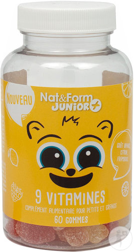 Nat&Form Junior Ours 9 Vitamines 60 Gommes