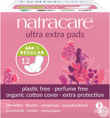 Natracare Serviettes Ultra Extra Normal 12 Pièces