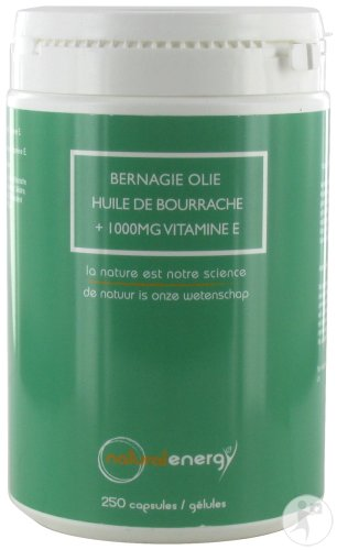 Natural Energy Huile De Bourrache 250 Capsules