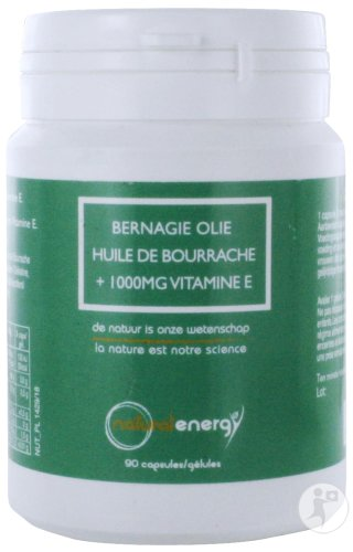 Natural Energy Huile De Bourrache Gélules 90x1000mg