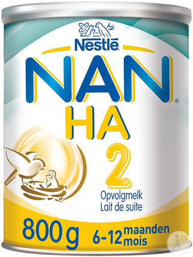 Nestlé Nan Optipro HA 2 Lait De Suite Hypoallergénique Pot 800g