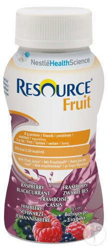 Nestlé Resource Fruit Framboise - Cassis Bouteilles 4x200ml (12104102)