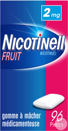 Nicotinell Fruit 2mg 96 Gommes à Mâcher