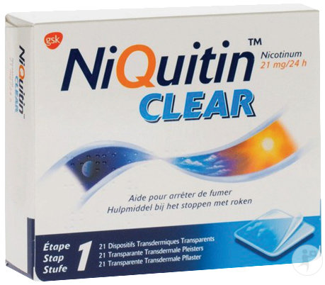 NiQuitin Clear Patch Nicotinum 21mg Pièces 21