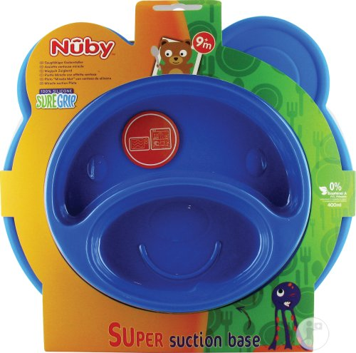 Nuby Assiette Ventouse Miracle Ours 9m+