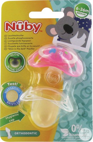 Nûby C Sucette Polyprop. Ortho Lumineuse 6-18m