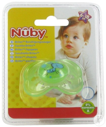 Nûby C Sucette Pp Silicone Brite Ovale 6-18m