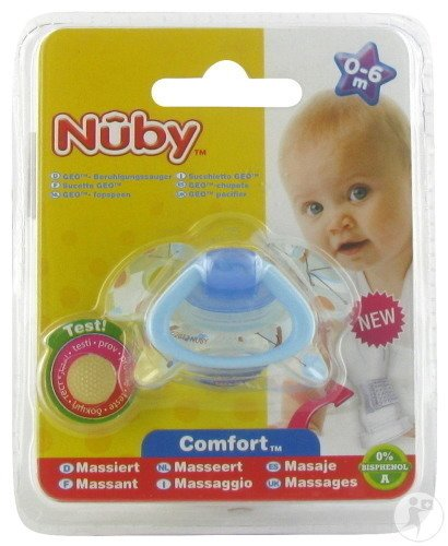Nûby C Sucette Pp Silicone Geo Ortho 0-6m