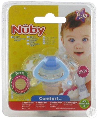Nûby C Sucette Pp Silicone Geo Ortho 6-18m