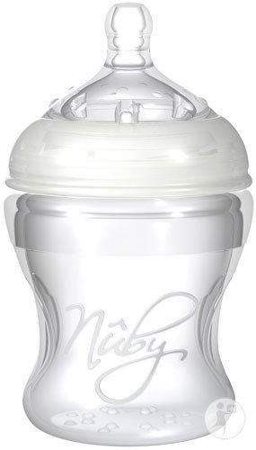 Nûby Natural Touch SoftFlex Natural Nurser Biberon Silicone 150ml + Tétine Doseur 0+ Mois
