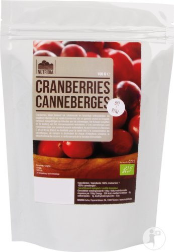 Nutridia Canneberges Bio & Raw 100g