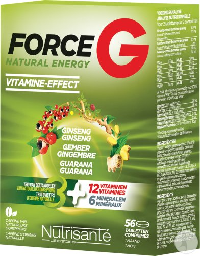 Nutrisanté Force G Natural Energy 56 Comprimés