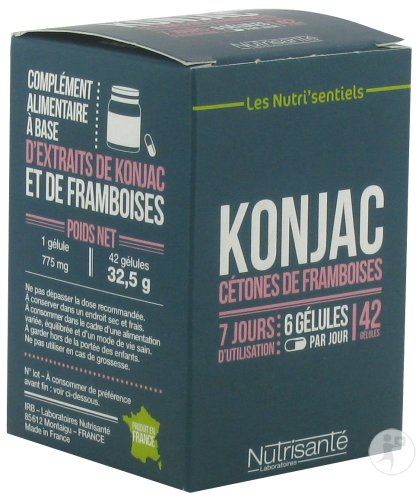 nutrisant konjac c tones de framboise 42 g lules achetez ici prix bas. Black Bedroom Furniture Sets. Home Design Ideas