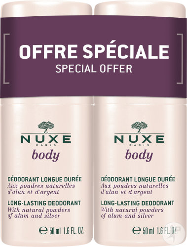 Nuxe Body Déodorant Longue Durée Roll-On Duopack 2x50ml