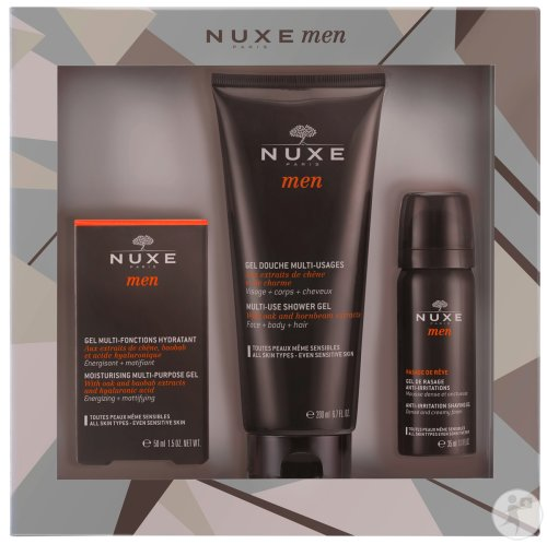 Nuxe Men Coffret Gel Hydratant 50ml + Gel Douche 200ml + Gel De Rasage 35ml