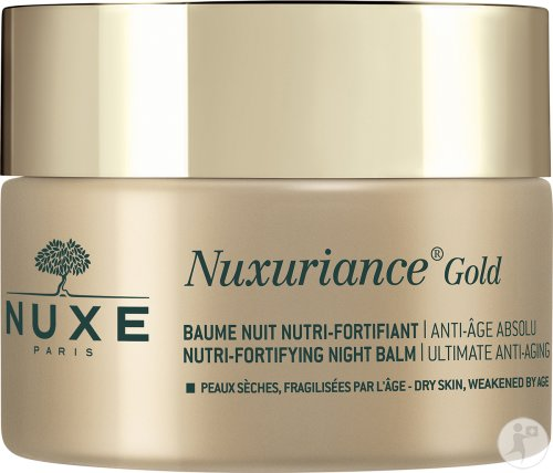 Nuxe Nuxuriance Gold Baume Nuit Nutri-Fortifiant Anti-Âge Absolu Peaux Sèches Fragilisées 50ml