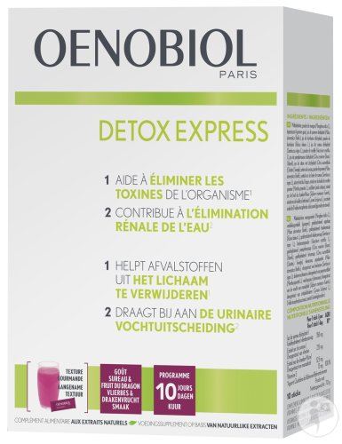 Oenobiol Détox Express Goût Sureau & Fruit Du Dragon 10 Sticks