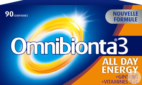 Omnibionta 3 All Day Energy Multivitamines Energie 90 Comprimés