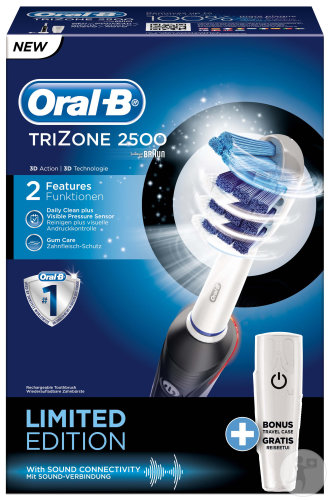 Oral B Trizone 2500 Cross Action Black 1 Pièce