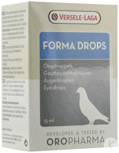 Oropharma Forma Drops Gouttes Ophtalmiques Apaisantes Pigeons 15ml (4600083)