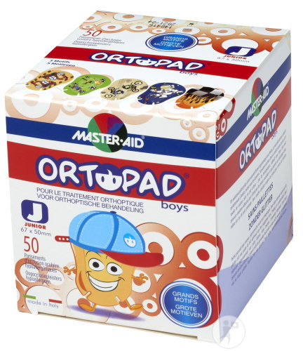Ortopad Junior For Boys Compresse Oculaire 50 Pièces (73321)