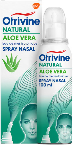 Otrivine Natural Aloe Vera Eau De Mer Isotonique Spray Nasal 100ml