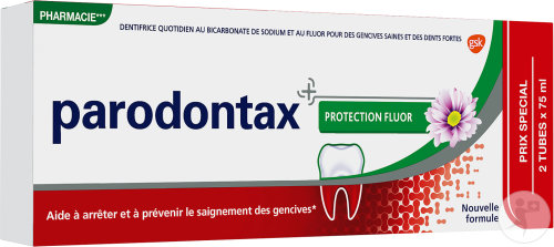 Parodontax Protection Fluor Dentifrice Duopack Tubes 2x75ml