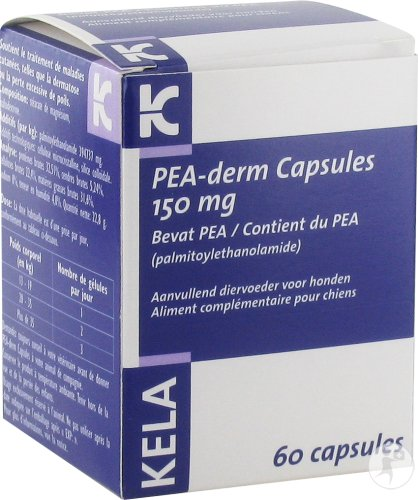 Pea Derm 150mg Caps 60