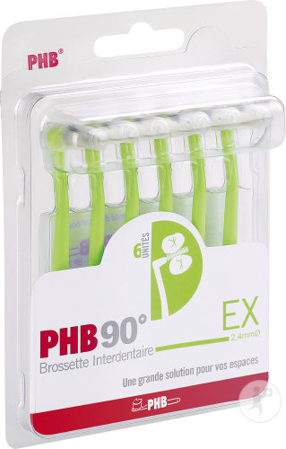 PHB 90° EX Brossette Interdentaire 2,4mm Pièces 6