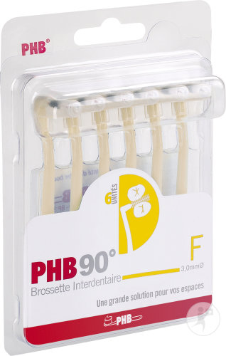 PHB 90° F Brossette Interdentaire 3mm Pièces 6
